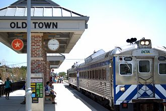 Lewisville, Texas - The A-train station in Old Town Lewisville, opened in 2011