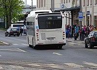 Liberec, nádraží, autobus náhradní dopravy za vlak.jpg