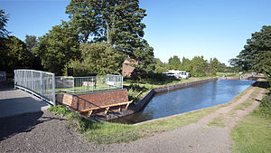 Lichfield Canal - Borrowcop Locks Canal Park on Tamworth Road between Lock 25 and 26.