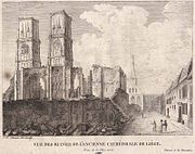 The cathedrale Saint-Lambert in Liege being sacked by the city's revolutionaries Liege-ruine-stlambert-Chevron-1.jpg