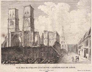 Liège Revolution - Image: Liege ruine stlambert Chevron 1