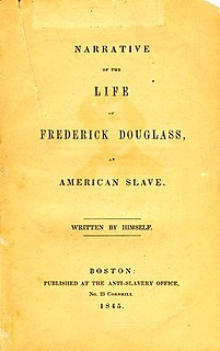 <i>Narrative of the Life of Frederick Douglass, an American Slave</i> edition by Frederick Douglass