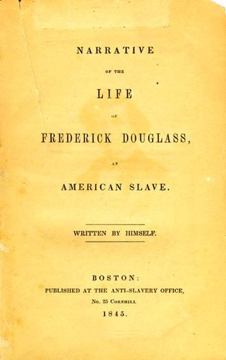 Narrative of the Life of Frederick Douglass, an American Slave - Image: Life Of Frederick Douglass Cover