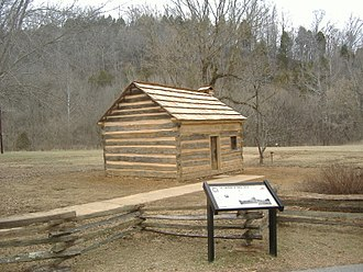 Knob Creek Farm - Image: Lincoln Knob Creek Gollaher Cabin