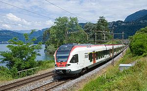 Rete celere del Canton Ticino - Image: Linea celere S10 Capolago