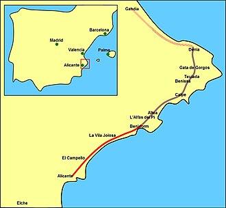 Linien L1 und L9 (Stadtbahn Alicante).jpg