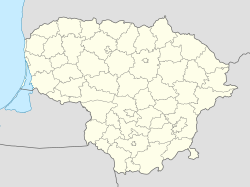 Juodupė is located in Lithuania