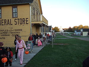Urbandale, Iowa - Walnut Hill, part of the Living History Farms as seen during the 2007 Halloween event