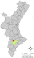 Localització de Banyeres de Mariola respecte el País Valencià.png