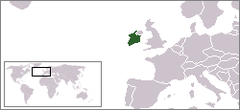 Location of Éire