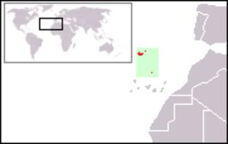 Trocaz pigeon - Image: Location Madeira