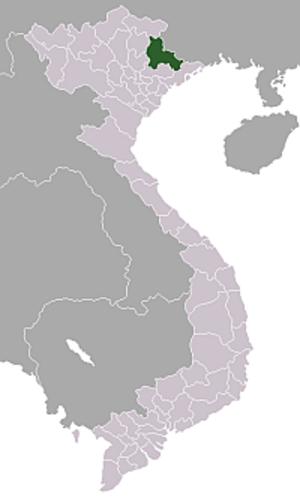 Operation Hirondelle - Image: Location Vietnam Lang Son