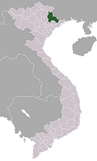 Operation Hirondelle - Lạng Sơn Province within which lies Lạng Sơn