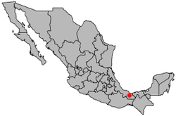 Minatitlán lies along the Coatzacoalcos River on the Isthmus of Tehuantepec