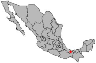 Minatitlán, Veracruz - Image: Location Minatitlan