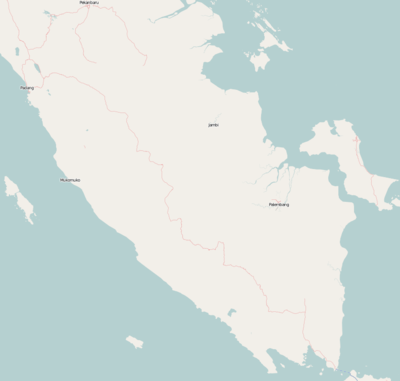 Location map Indonesia Sumatra South