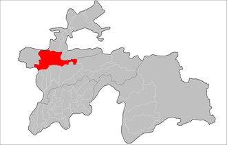 Ayni District - Image: Location of Ayni District in Tajikistan