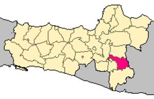 Karanganyar Regency - Image: Locator kabupaten karanganyar