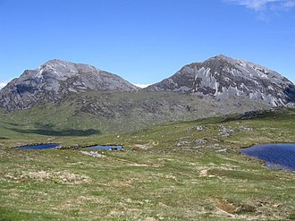 Paps of Jura - Beinn an Oir on the left and Beinn Shiantaidh on right