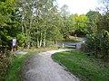 Locko Lane crosses The Five Pits Trail - geograph.org.uk - 582599.jpg