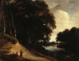 Forest Landscape with a River