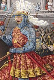 Louis XII entering Genoa in 1507. Miniature by Jean Bourdichon.
