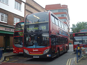 London Buses route 93 - London General Alexander Dennis Enviro400 at Putney Bridge station in October 2013