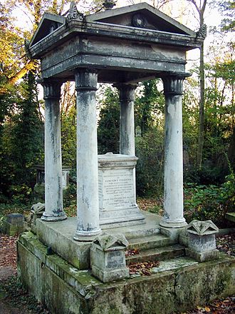 Nunhead Cemetery - Grave of Vincent Figgins