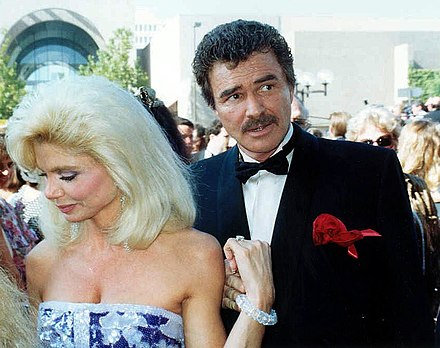 Reynolds and Loni Anderson at the 43rd Primetime Emmy Awards in 1991 Loni Anderson and Burt Reynolds.jpg