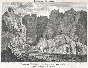 Lord Penrhyn's Slate Quarry, near Bangor, N. Wales