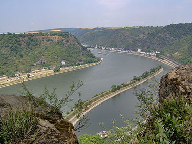 View of the Rhine as seen from the Lorelei Lorelei View.JPG