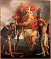 Lorenzo lotto, Santi Cristoforo, Rocco e Sebastiano, 1532-1534 circa, 01.jpg