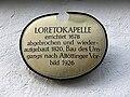 Loretokapelle (München) Gebäudeschild.jpg