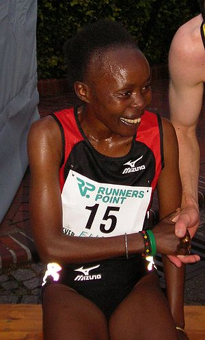 New York Mini 10K - Kenyan runner Tegla Loroupe is a five time winner of the race.