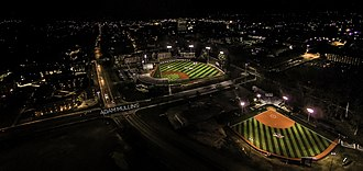 J. C. Love Field at Pat Patterson Park - The field at night.