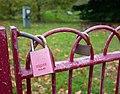 Lovelocks Near the Pagoda in Battersea Park, London.jpg