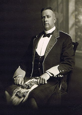 Arthur Currie - Lieutenant Colonel Arthur Currie in Highlands dress of the 50th Regiment