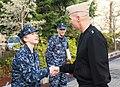 Lt. j.g. Cowan is congradulated after receiving her dolphins. (8249001357).jpg