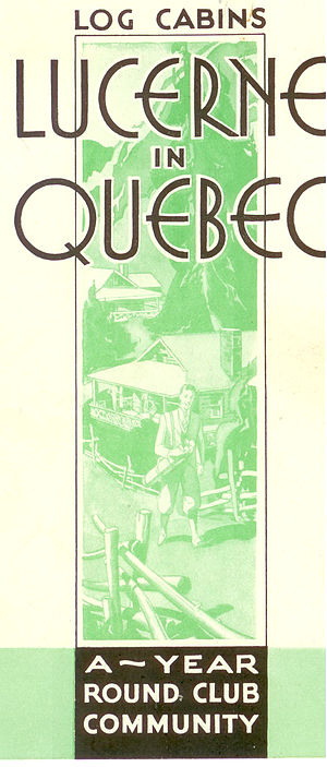 Château Montebello - Advertisement for Lucerne in Quebec