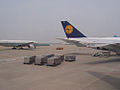 Lufthansa and Air China at Incheon, from United 892 - Flickr - skinnylawyer.jpg