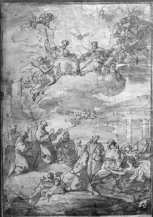 Luis González Velázquez - The Trinity and Franciscan Saints by Luis González Velázquez, Museo del Prado