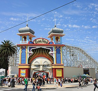 St Kilda, Victoria - Luna Park, St Kilda's 1912 amusement park