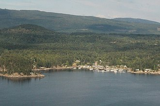 Lund, British Columbia - Lund, seen from a floatplane