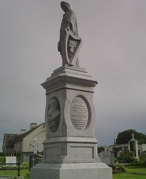 William Lundon - Monument commemorating William Lundon, which stands in the grounds of the graveyard at Kilteely village, which is situated in County Limerick, Ireland.