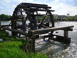 Historical water wheels on the Regnitz river