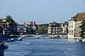 Münsterbrücke - Lindenhof - Rathaus-Helmhaus-Wasserkirche - Limmat - Quibrücke 2013-09-21 16-53-57.JPG