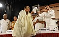 M. Venkaiah Naidu presenting the Sukhatma Award to Prof. Rahul Mukherjee of IIM Calcutta, at the closing ceremony of 125th Birth Anniversary of Prof. P.C. Mahalanobis and the 12th Statistical Day celebration, in Kolkata.JPG