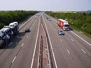M40 in Warwichshire
