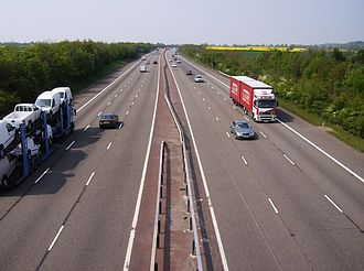M40 motorway - M40 at Warmington, Warwickshire
