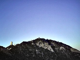 MDM Observatory - Image: MDM View Up the Mountain